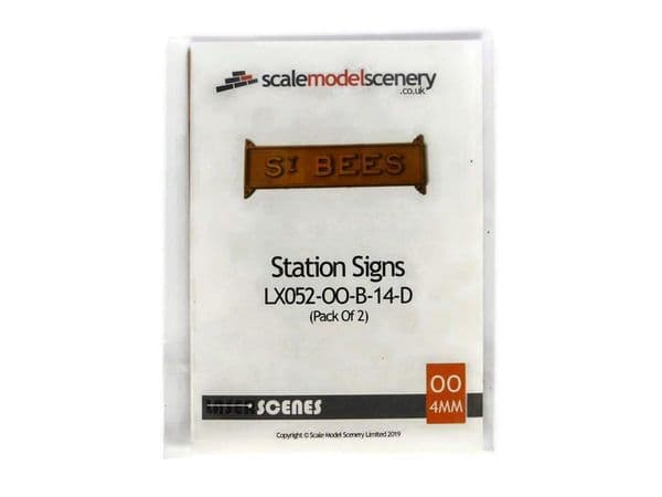 LX052-OO Laser Cut Station Signs/Running Boards (Pack of 2) OO/4mm/1:76